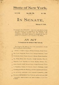 "the New York State Senate act incorporating ""the Kehillah of New York City"""