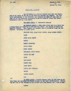 """דו""""ח ששלחה הקהילה היהודית למשטרה ובו רשימת הגנבים והאתרים שבהם נהגו להתכנס"""