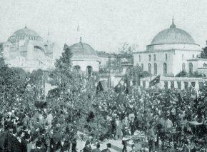 הפגנה בקונסטנטינופול (איסטנבול), 1908 מהפכת התורכים הצעירים