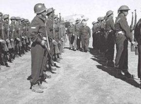 בן גוריון סוקר משמר כבוד, 1949