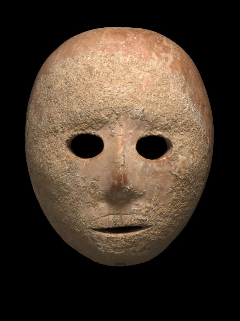 9000 year old prehistoric stone mask from Har Hebron