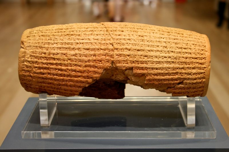 The Cyrus Cylinder's corroboration of the biblical narrative makes it one of history's most sensational archaeological discoveries. Though the Bible claims only that Cyrus permitted the Jews to rebuild their Temple, the cylinder recounts that he allowed all his subjects to rebuild theirs