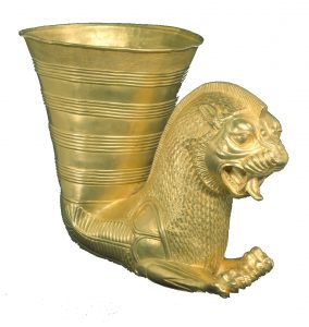 Golden drinking krater from Darius' palace, such as might have been used at royal feasts