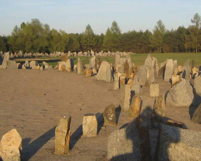 The most shocking thing about visiting Treblinka is that there's nothing there. The Nazis erased every trace of their crimes against humanity. Today the infamous site is marked only by hundreds of memorial stones and a central monument