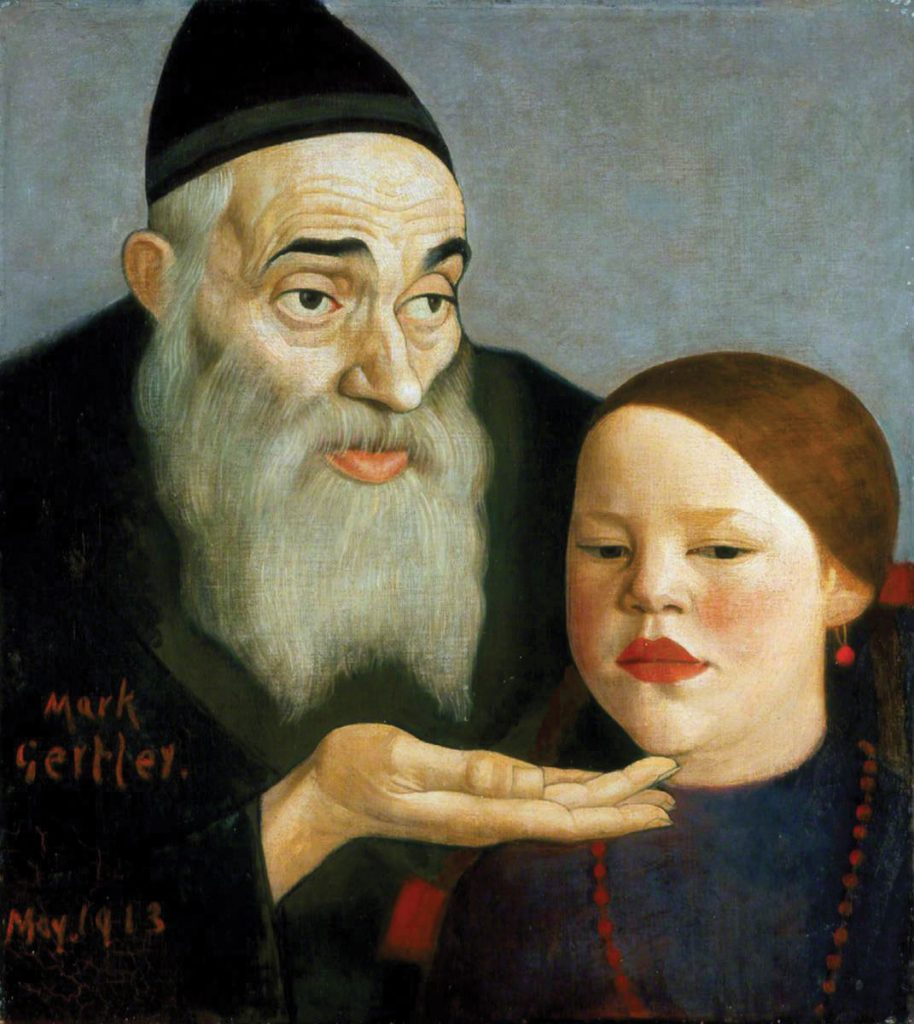 The Rabbi and his Granchild, oil on canvas, 46 cm x 51 cm, London, 1913