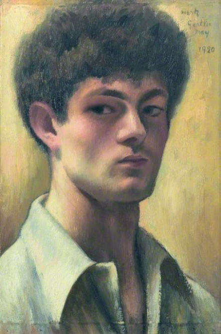 Self portrait by Mark Gertler, oil on canvas , 42.5 x 29.2 cm , 1920