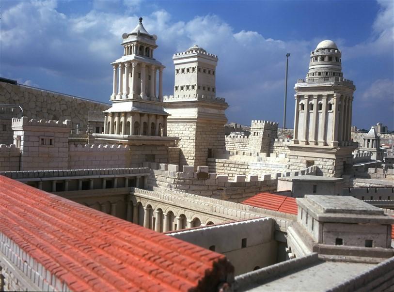 שחזור ארמון הורדוס ושלושת המגדלים הסמוכים בירושלים של ימי הורדוס