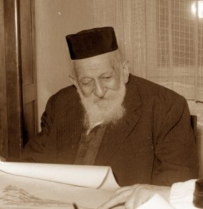 ד''ר משה וולאך מייסד בית החולים שערי-צדק, תמונה מ-1956