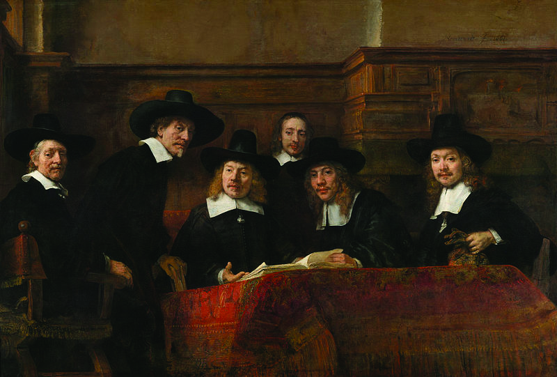 The golden age of Dutch art was launched by the rise of Holland's middle class. Syndics of the Drapers' Guild