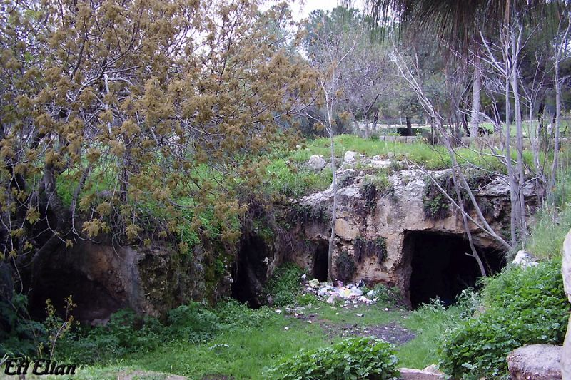The Lion's Cave by Jerusalem's Mamilla neighborhood
