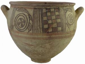 Philistine Bichrome Krater (a large bowl for mixing wine) from the 11th century BCE