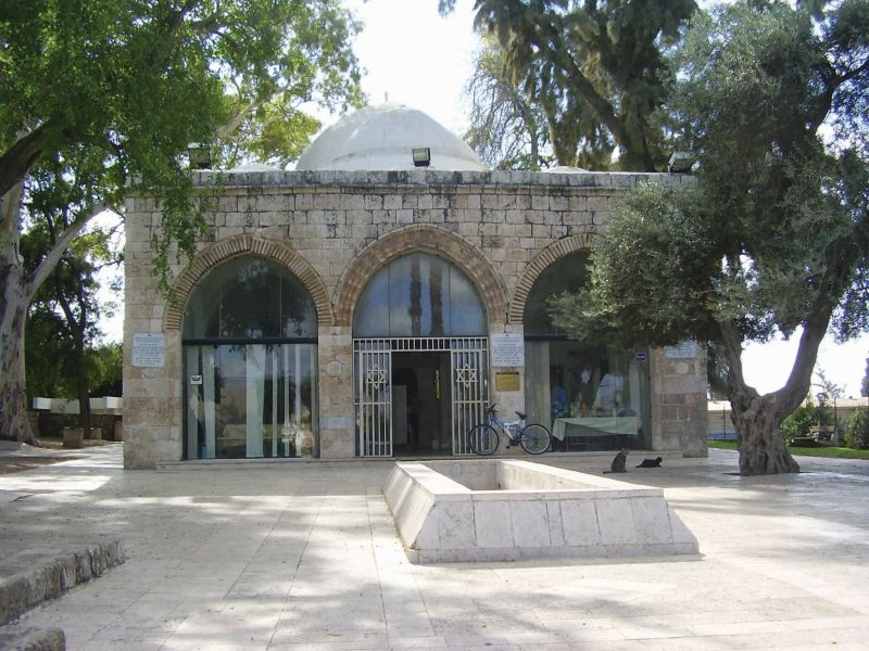 Rabbi Gamliel's tomb in Yavne, identified and dedicated by new immigrants to the town
