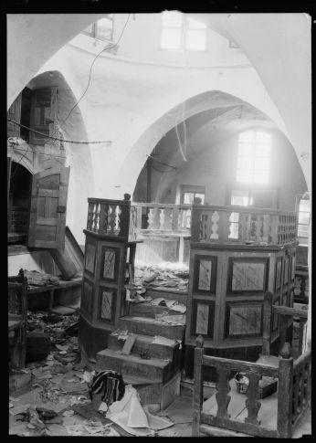 בית הכנסת בחברון לאחר הפרעות בתרפ''ט