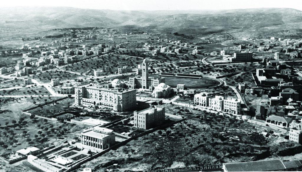 ההפרדה הלאומית בין השכונות הייתה פחות חדה מאשר היום. טלביה במבט מלמעלה