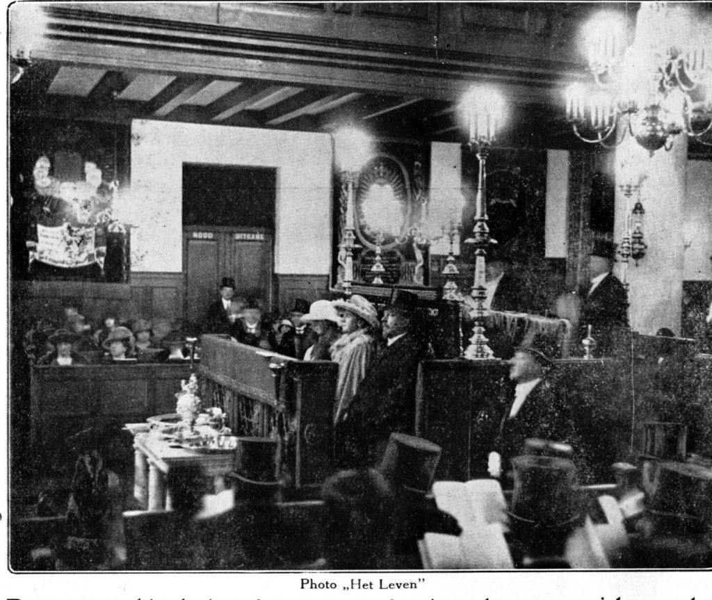 Queen Wilhelmina in the Great Synagogue, 1924