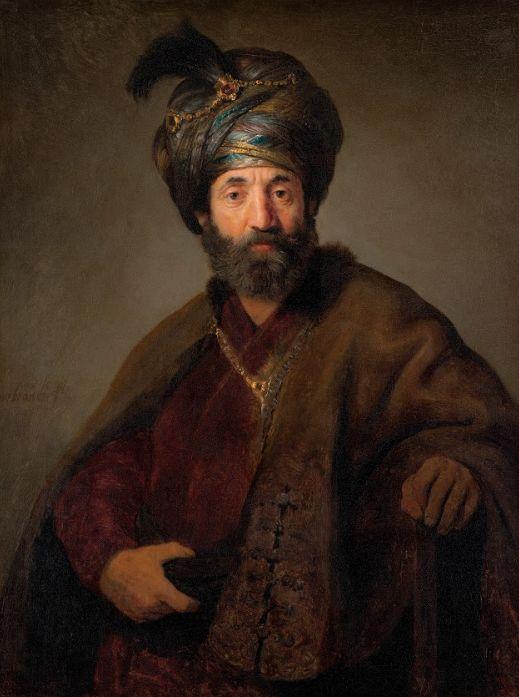 בשנים האחרונות היו שזיהו את הדמות בציורו של רמברנדט 'גבר בלבוש אוריינטלי' עם שמואל פאלאג'י שפעל בהולנד - ארצו של רמברנדט - אולם ספק רב אם יש אמת בזיהוי זה. הצייר ההולנדי הדגול צייר אמנם לא מעט יהודים, אך הוא נולד ב-1606 והיה רק בן עשר כששמואל פאלאג'י נפטר. שמן על בד, 1634