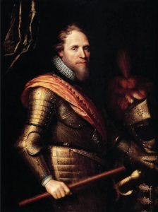 הנסיך מוריץ מנסאו היה פטרונו וידידו של שמואל פאלאג'י ופעל מאחורי הקלעים לשחרורו מהכלא הבריטי. הנסיך מוריץ מארח משלחת של דיפלומטים רוסים בטרקלינו ב-1614 - אותו טרקלין שבו התארח ללא ספק גם פאלאג'י לא אחת. צ'רלס רוכסן, שמן על בד, 1874