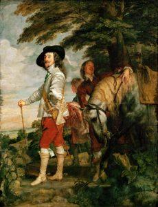 מלכי בית סטיוארט החזירו את הקתולים לשלטון. פרט מתוך דיוקן של צ'ארלס הראשון בעת ציד, אנתוני ואן דייק, סביבות 1635