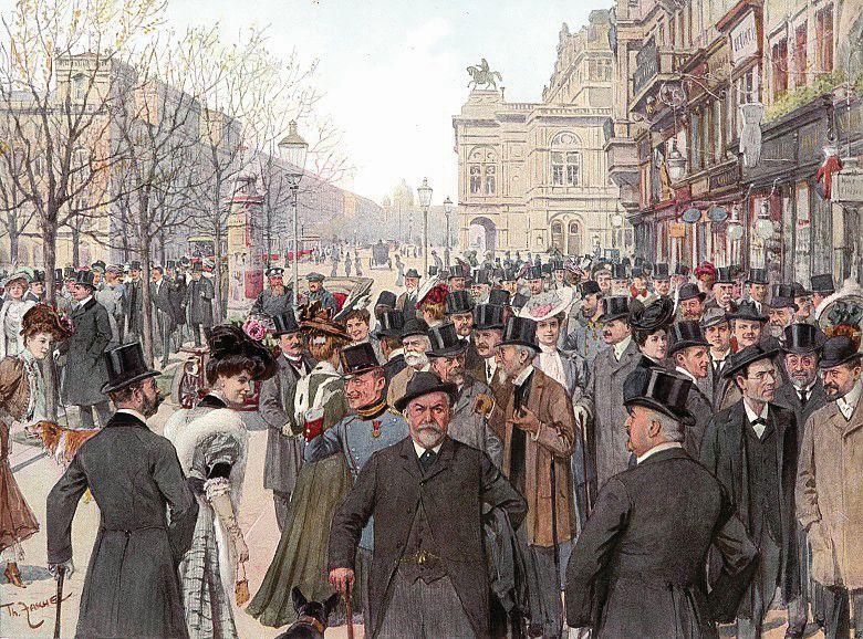 רחוב הטבעת בוינה. תיאו צאשה, 1900. ארמון שנברון בוינה