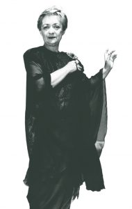 In a dress designed especially for her, Lipshitz performed in Lithuania to mark the Baltic state's independence from the USSR, 1991