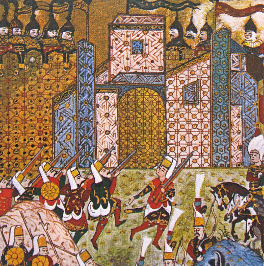 פרחא נרצחה כנראה באחד ממסעות ההרג של היאנצ'רים. מיניאטורה עות'מאנית המתארת את היאנצ'רים צרים על ההוספיטלרים ברודוס, 1522