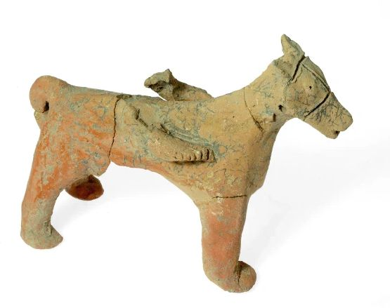 Clay horse figurine from Motza