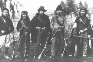 ההגנה היהודית הציונית התחילה בגליל. אנשי ארגון 'השומר' בתמונה מ-1907