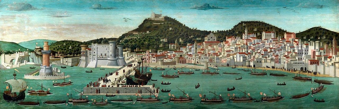 ציור של נאפולי בסוף המאה ה-15