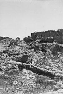 חפירות בצד הדרומי של תל גמה במשלחת פלינדרס פיטרי, 1927-1926